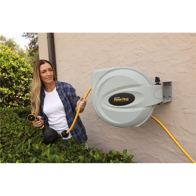 "Retractable Power Hose Reel 5 8"" x 50' by Bloom USA International Corp."