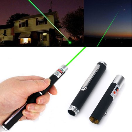 Portable Green Laser Pointer - HDE Green Laser Pointer <5mw Black Metal Body 532nm Class 3a Laser
