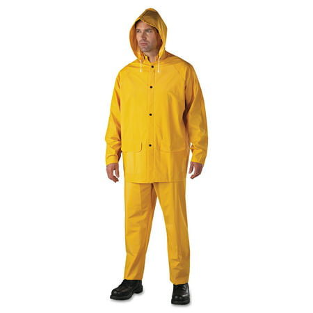 Anchor Brand Rainsuit, PVC/Polyester, Yellow, 3X-Large -ANR90003XL