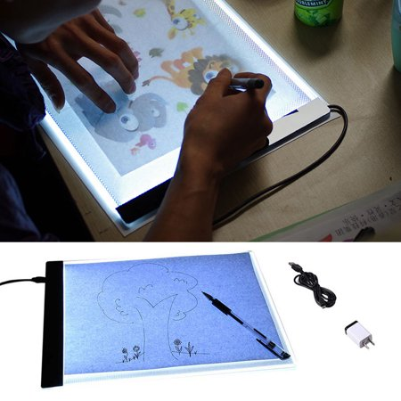 Estink A4 LED Light Tracing Drawing Board, Ultra-thin Portable Light Box Tracer USB Power Artcraft Are Stencil Board Pad for Artists Kid Drawing Sketching Animation