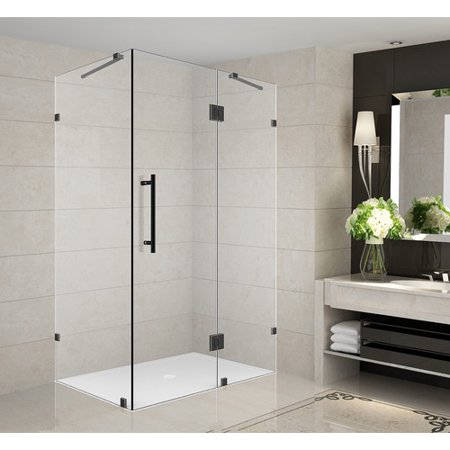 Aston Sen987 3432 10 Avalux 34 Wide X 32 Deep 72 High Frameless Hinged Shower Enclosure With Clear Gl