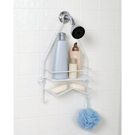 Mainstays Over-the-Shower Caddy, White - Walmart.com