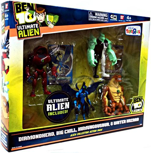 Ben 10 Ultimate Alien Alien Collection Action Pack #1 Action Figure Set by