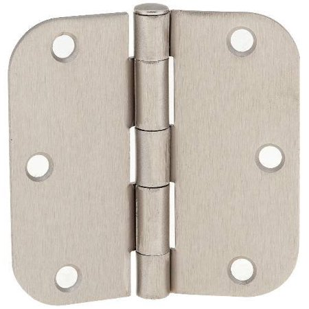 ((Pack of 12) Tempo Satin Nickel 3.5  x 3.5  Door Hinges with 5/8  Radius Corn...)