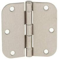 Pack Of 12 Tempo Satin Nickel 35 X Door Hinges With 5