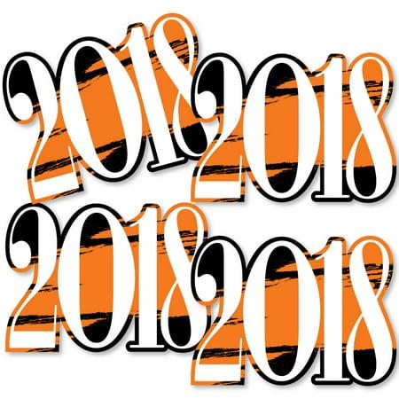 Diy Graduation Decorations (Orange Grad - Best is Yet to Come - 2018 Decorations DIY Orange Graduation Party Essentials - Set of)