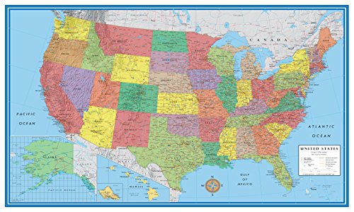 24x36 United States USA US Classic Elite Push Pin Travel Wall Map