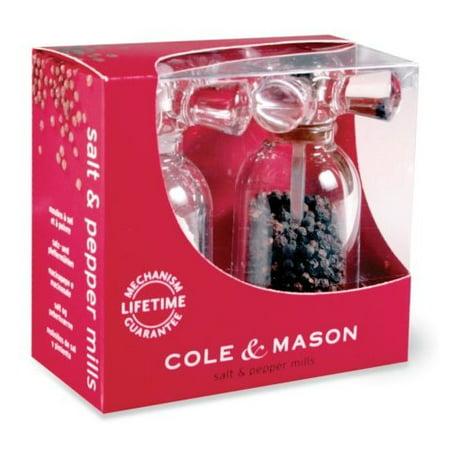 Cole and Mason H630180 Tap Clear-Acrylic Salt and Pepper Mill Set (Cole & Mason Acrylic)