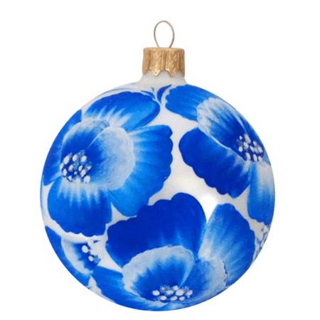 325 baby blue eyes glass christmas ornament - Light Blue Christmas Ornaments
