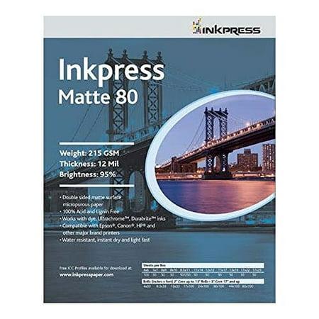 Inkpress PP8046100 Commercial Duo Matte 80 Inkjet Paper New Stock 4in. X 6in. 100