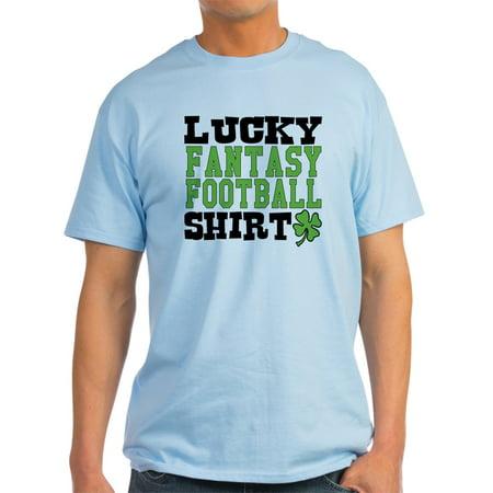 7467cf9190 CafePress - CafePress - Lucky Fantasy Football Shirt T-Shirt - Light T-Shirt  - CP - Walmart.com