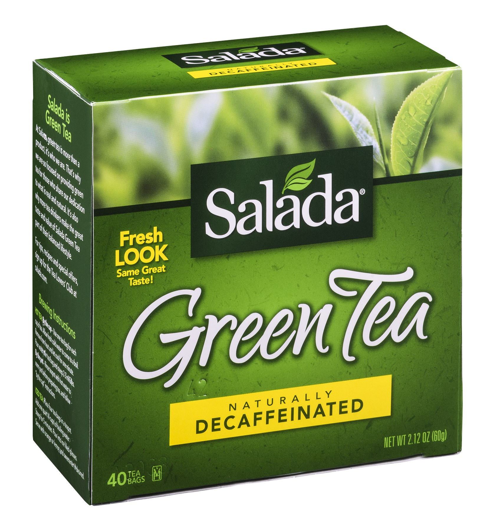 Salada Green Tea, Naturally Decaffinated, 40 CT (Pack of 6)