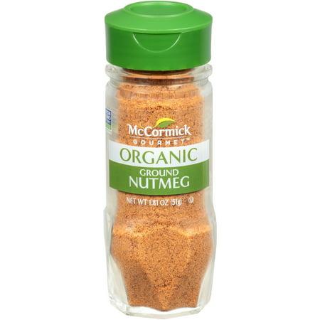 McCormick Gourmet Organic Ground Nutmeg, 1.81 - Nutmeg Leaf