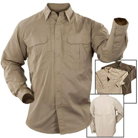 5.11 Tactical Taclite Pro L/S Shirt (XL)-TDU Khaki