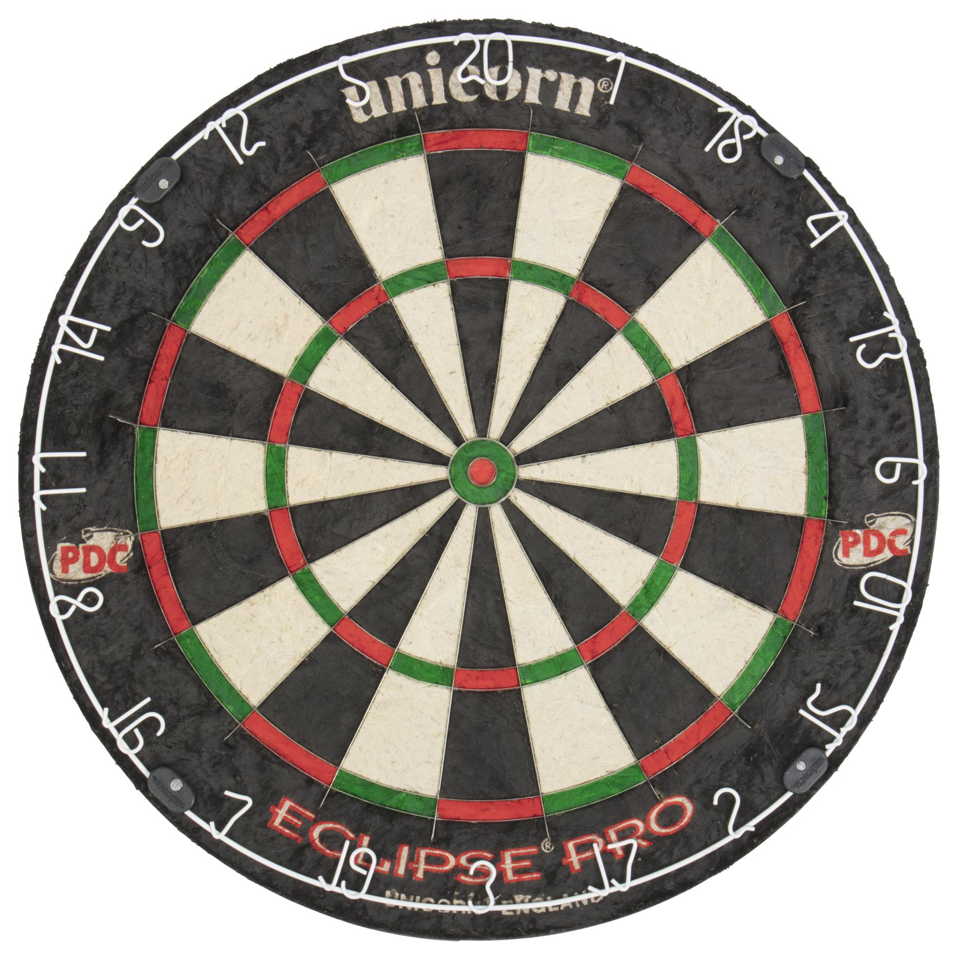 Unicorn Eclipse Pro Dart Board with Ultra slim Segmentation – 30% Thinner Than Conventional Boards