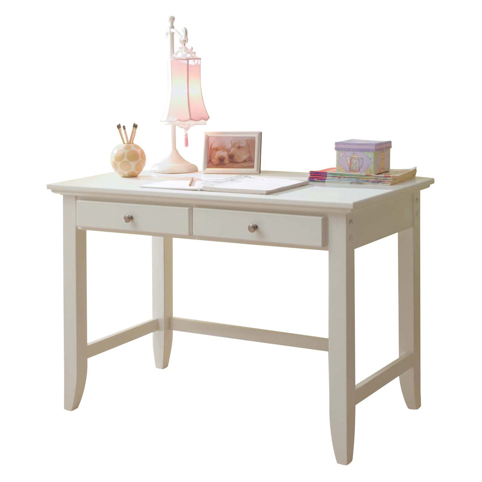 Home Styles Naples Student Desk - White - Walmart.com ...