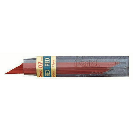 Pentel Hi-Polymer Colored Lead, Red, .7 mm.