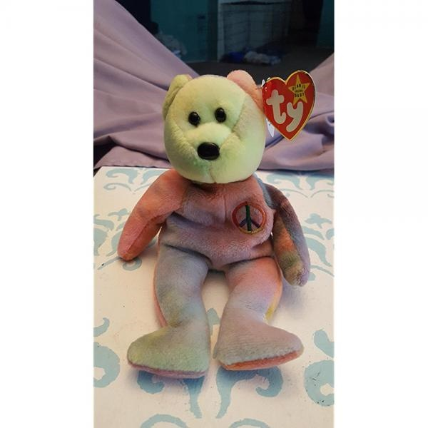 Ty Beanie Babies Peace the Ty-Dyed Teddy Bear by