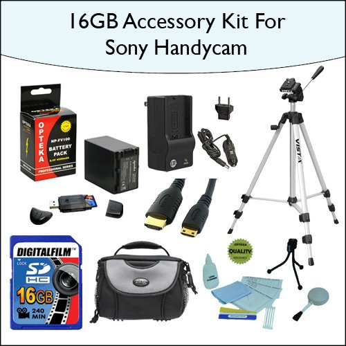 Opteka 16GB Essentials Items Accessories Kit for Sony DCR...