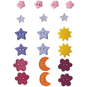 Artemio Button Assortment 19/pkg-moons Stars & Flowers