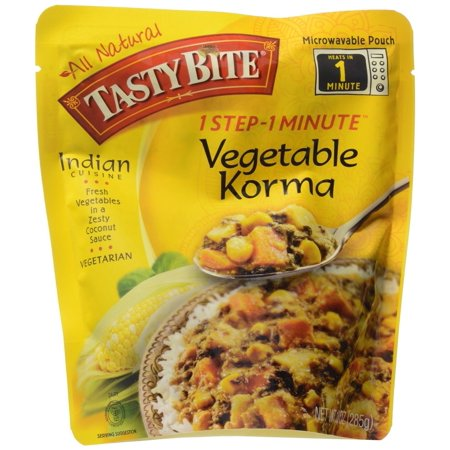 Tasty Bite Vegetable Korma Heat   Eat Entree  10 Ounce Pouches