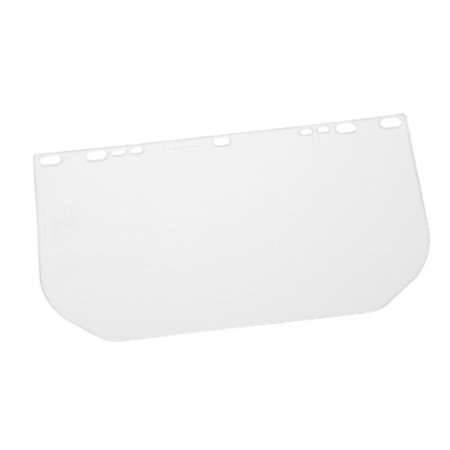 """Gateway Safety 668 Rectangular Flat Stock Traditional Universal-Fit Headgear Visor, Clear Lens, 8"""" Length x 15-1/2"""" Width x 0.040"""" Thick"""