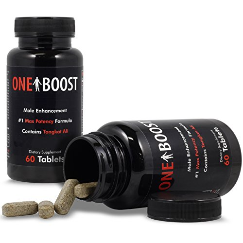 (2) Bottles One Boost Testosterone Booster Pills For Men Tongkat Ali Supplements Proven To