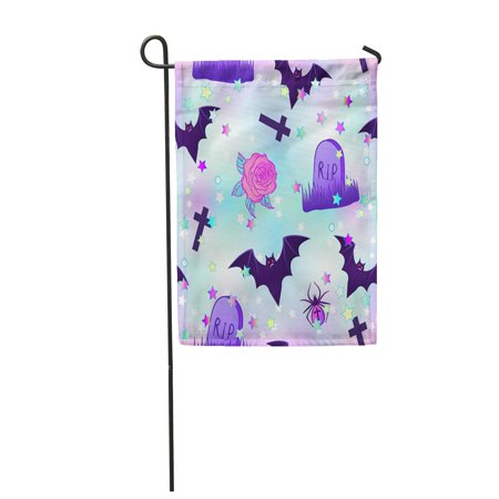 KDAGR Kawaii Funny Spooky Halloween in Neon Pastel Colors Cute Garden Flag Decorative Flag House Banner 28x40 inch](Cute Halloween Colors)