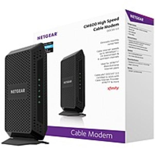 Refurbished Netgear High Speed Cable Modem - 1 x Network (RJ-45) - 960 Mbit/s Broadband - Gigabit Ethernet - Desktop