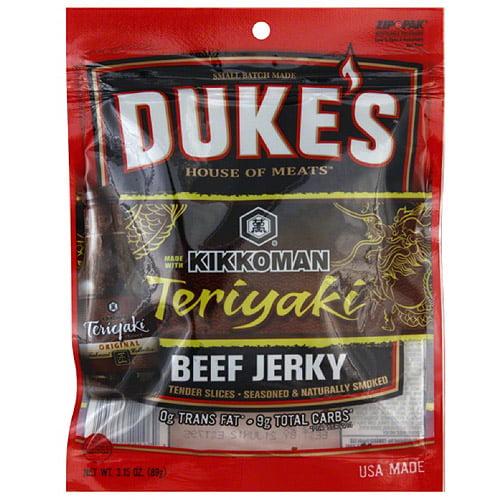 Duke's House of Meats Teriyaki Beef Jerky, 3.15 oz, (Pack of 8)