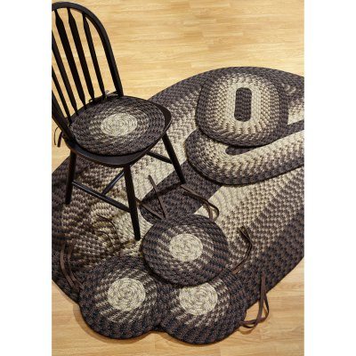 Alpine Braided Rug 7-Piece Set with Room Size Rug and Accessories, Chocolate