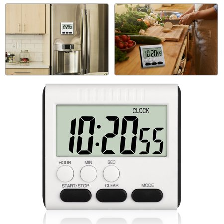 EEEKit Digital Kitchen Timer, Cooking Timer, Large Display, Strong Magnet Back, Loud Alarm, Memory Function, 24-Hour Display Clock, Count-Up & Count Down for Cooking Baking Sports Games Office