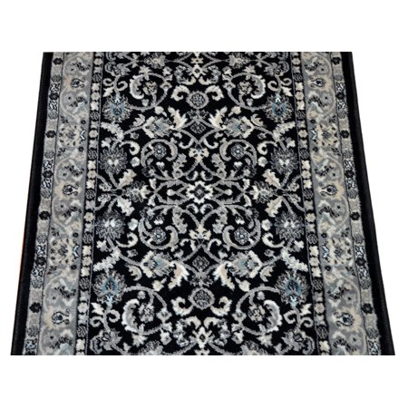 Dean Stratford Keshan Black Custom Length Carpet Rug