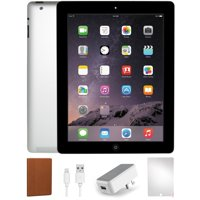 Refurbished iPad 4 16GB Black - IPAD4B16-BUNDLE - Space Gray, WiFi Only, 1 Year Warranty, Case and Tempered Glass Screen Protector included.