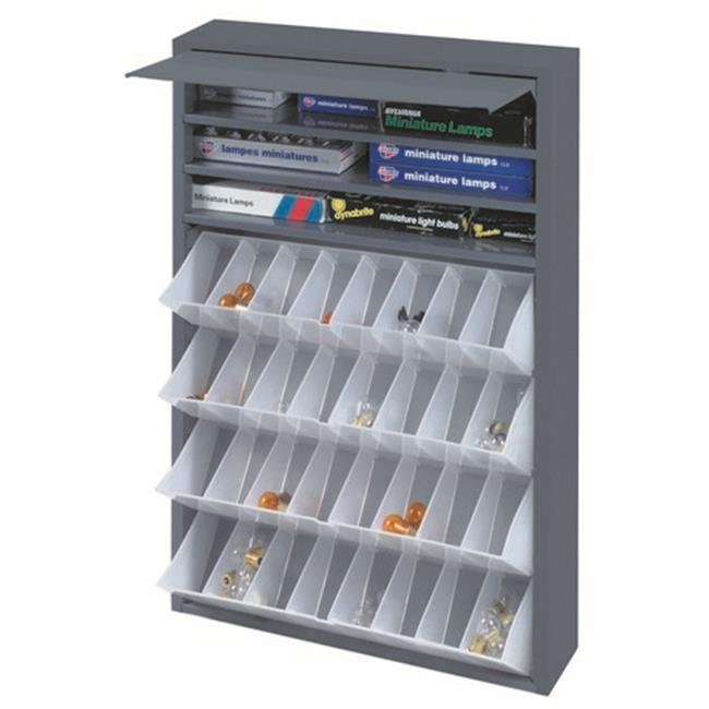 Cold Rolled Steel Tilt Out Tray Dispensing Cabinet, Gray - 26.75 x 19 x 4 in.