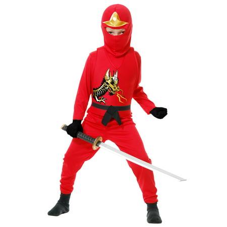 Child Ninja Avengers Series II Red Costume - Red Ninja Costume