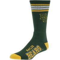 Baylor Bears For Bare Feet 4-Stripe Deuce Shin Socks - Men 10-13