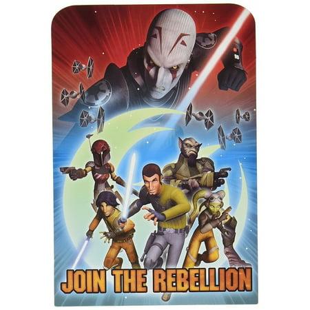Star Wars Force Awakens Pack of 8 Invitations - Star Wars Invitation