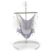 Coral Coast Hammock Chair with NO Pillows and Grey Wash Spreader Bar