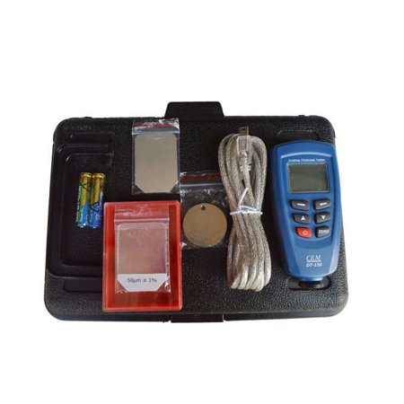 (IntBuying Digital Paint Coating Thickness Gauge Meter Tester Auto F/NF Probe 0-1250um 220123)
