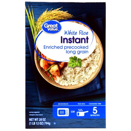 Great Value Instant White Rice  28 Oz