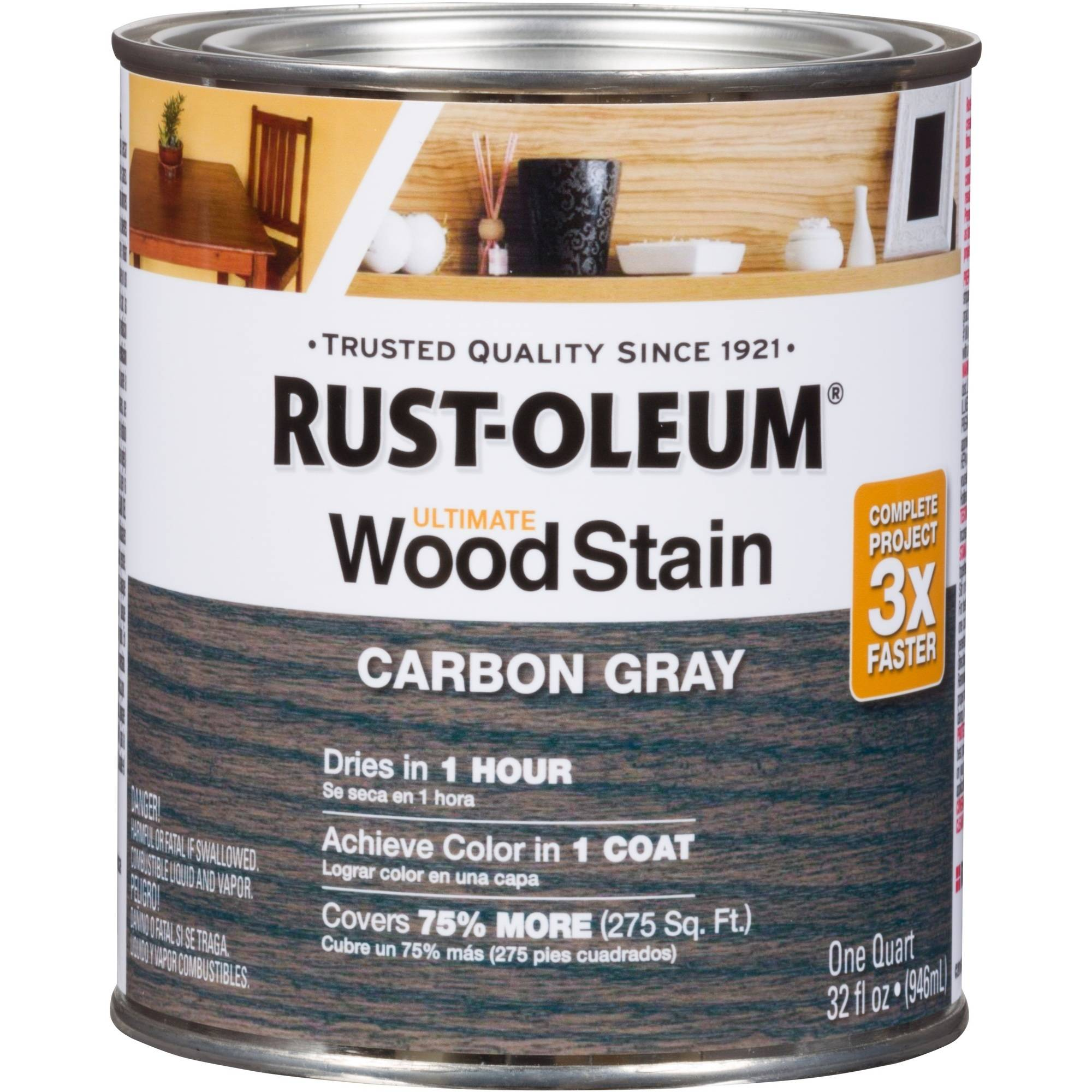 Rust-Oleum Ultimate Wood Stain Quart (Base UPC0002006632035) Color Carbon Gray