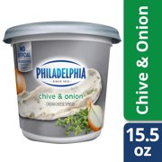 Philadelphia Chive and Onion Cream Cheese Spread, 15.5 oz Tub