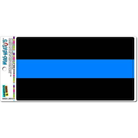 Thin Blue Line Police Officers Automotive Car Refrigerator Locker Vinyl Magnet Police Badge Ring