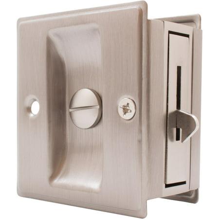 Square Pocket Door Lock Bed/Bath Latch
