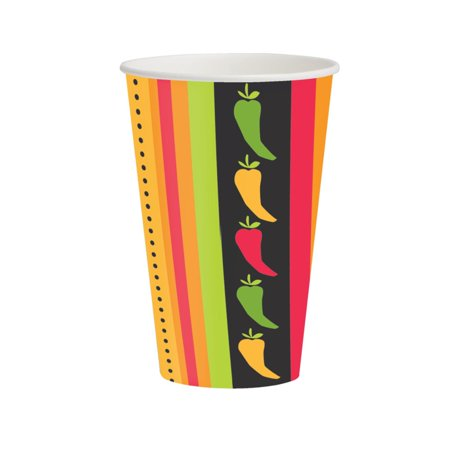 Club Pack of 96 Fiesta Grande Disposable Paper Hot and Cold Drinking Party Cups 12 oz.