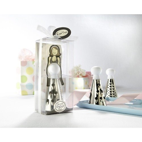Kate Aspen 13013NA World's Gratest Mom Cheese Grater in Gift Box with Organza Bow- Case of 96