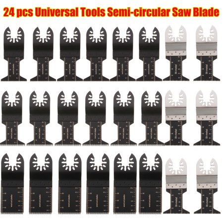 24Pcs for Multimaster Saw Blade For FEIN RIDGID RYOBI SKIL Oscillating Rotary Multi Tool Multitool Wood Cutting Grinding Sanding Polishing Set