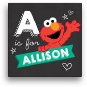 """Personalized Sesame Street Elmo Canvas Wall Art with Hearts, 16"""" x 16"""""""