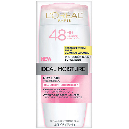 L'Oreal Paris Ideal Moisture Dry Skin Sunscreen Lotion, SPF 25, 4 fl oz
